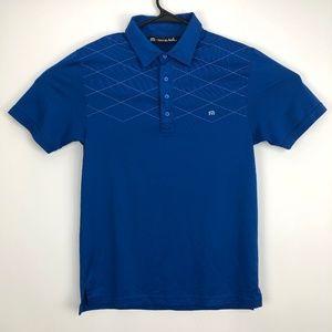Travis Mathew Pima Cotton Golf Polo Blue Small
